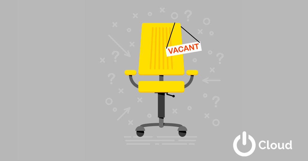 Cartoon image of chair with vacancy sign