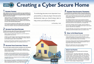 tips on creating an cyber secure home that is secure